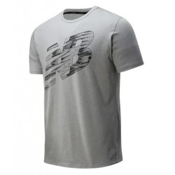 NEW BALANCE CAMISETA GRAPHIC GRIS, ARISTARUN